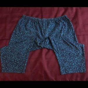 Woman Within Capri length leggings, Size 2X